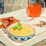 Perfect scrambled eggs & bacon (uova strapazzate e pancetta)