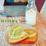 Pan brioche variegato al matcha e anko