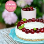 No bake cheesecake robiola e limone (con coulis alle ciliegie e ciliegie fresche)