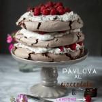 Pavlova al cioccolato fondente e lamponi per festeggiare il lancio di iFOOD!