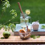 Gyoza ripieni di romagnolo e sake mojito per contest CLAI