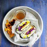 Onigirazu vegan con tofu e verdure marinate #Kikkomania