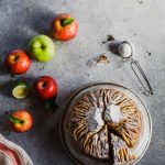 Torta di mele integrale e di grano saraceno