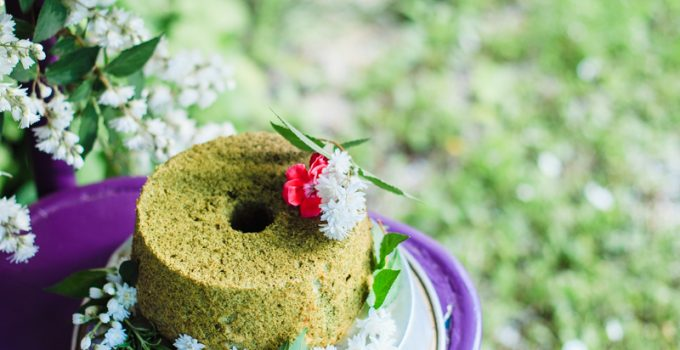 Matcha angel cake