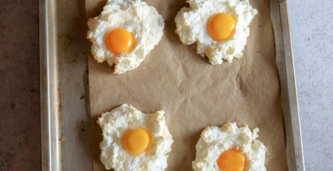 Cloud eggs – uova sulle nuvole al parmigiano