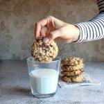 Biscotti avena e doppio cioccolato